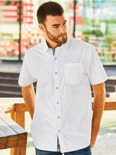 Burnside - Peached Printed Poplin Short Sleeve Shirt - 9290