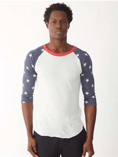 Alternative - Printed Eco-Jersey Baseball Raglan Tee - 2089ea