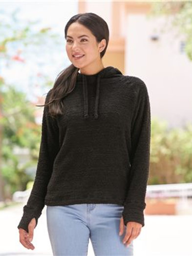 J. America - Women's Teddy Fleece Hooded Pullover - 8680