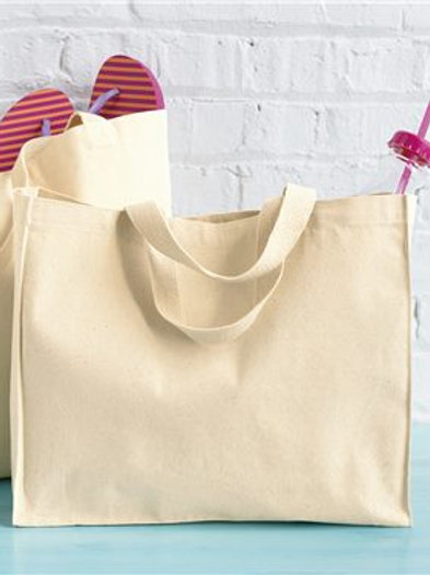 Liberty Bags - 12 Ounce Gusseted Canvas Tote - 8501