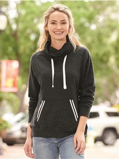 J. America - Women's Relay Cowl Neck Sweatshirt - 8653