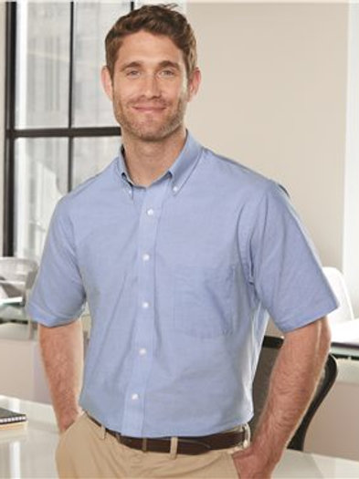 Van Heusen - Short Sleeve Oxford Shirt - 13V0042