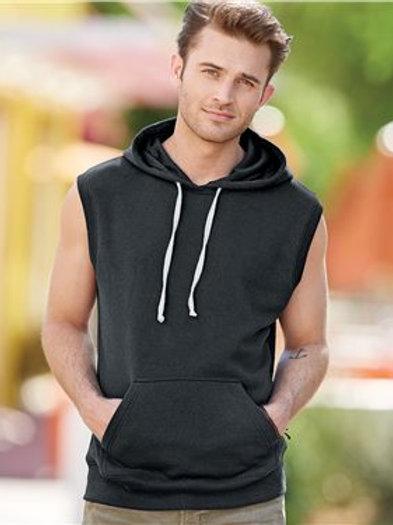 J. America - Triblend Sleeveless Hooded Sweatshirt - 8877