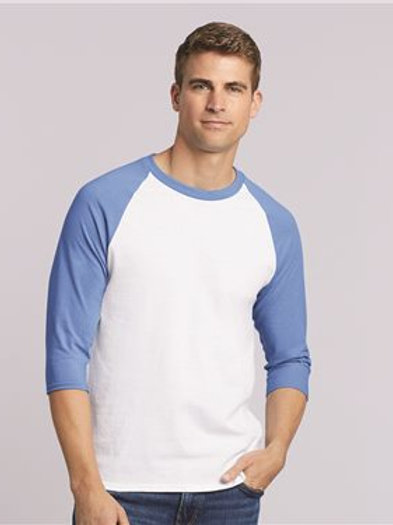 Gildan - Heavy Cotton™ Raglan Three-Quarter Sleeve T-Shirt - 5700