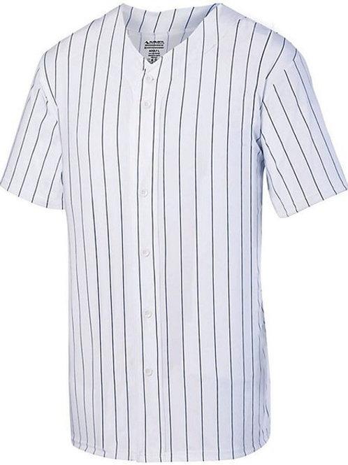 Augusta Sportswear - Youth Pinstripe Full Button Baseball Jersey - 1686