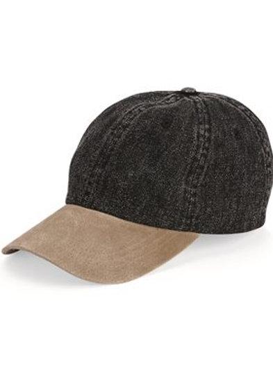Mega Cap - Washed Denim With Suede Bill - 7611