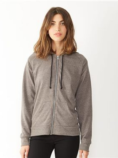 Alternative - Women's Eco-Mock Twist Adrian Hooded Full-Zip Sweatshirt - 9573ey