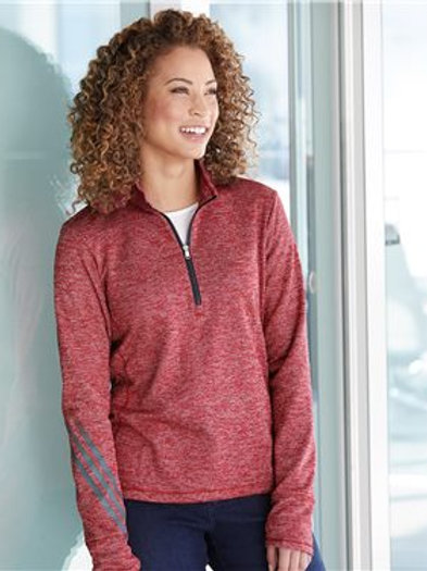 Adidas - Women's Brushed Terry Heather Quarter-Zip - A285