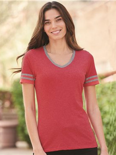 JERZEES - Women's Varsity Triblend V-Neck T-Shirt - 602WVR