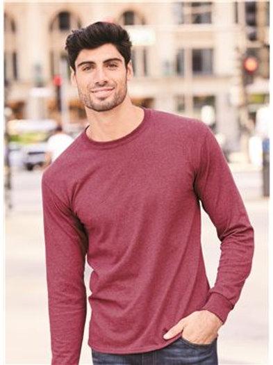 JERZEES - Dri-Power® Long Sleeve 50/50 T-Shirt - 29LSR Kiwi-White