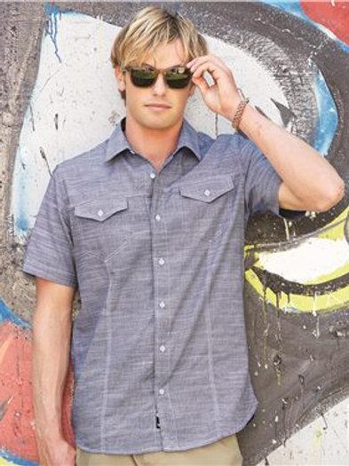 Burnside - Textured Solid Short Sleeve Shirt - 9247