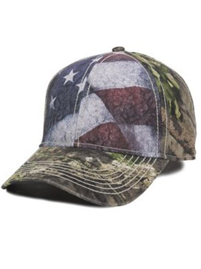 Outdoor Cap - Camo Cap with Flag Sublimated Front Panels - SUS100