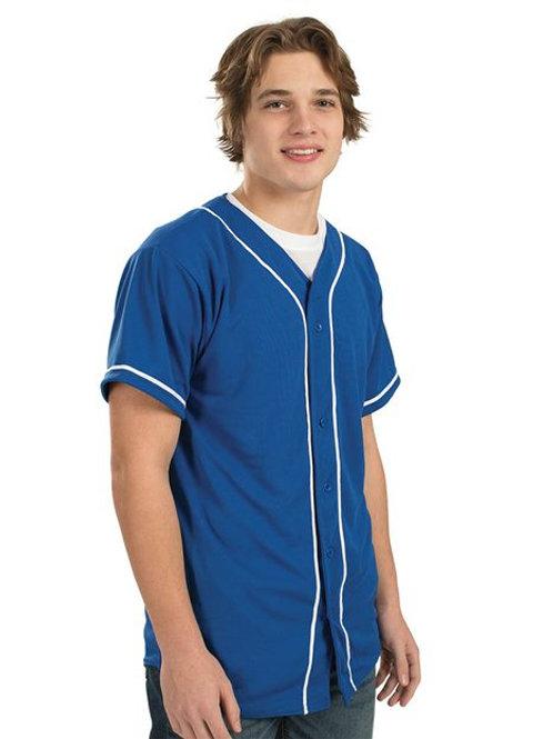 Augusta Sportswear - Wicking Mesh Button Front Jersey with Braid Trim - 593