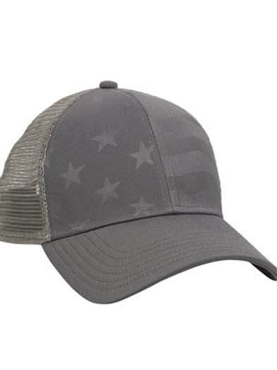 Outdoor Cap - Debossed Stars and Stripes with Mesh Back - USA750M