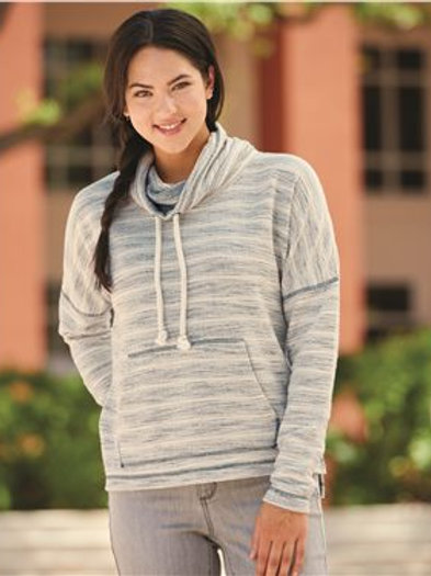 J. America - Women's Baja French Terry Cowl Neck Pullover - 8693