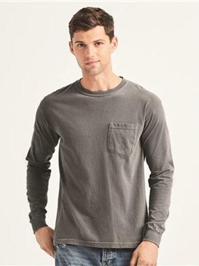 Comfort Colors - Garment Dyed Heavyweight Ringspun Long Sleeve Pocket T-Shirt -