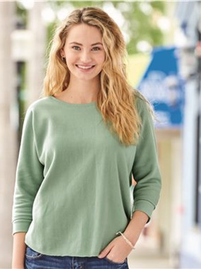 J. America - Women's Lounge Fleece Dolman Crewneck Sweatshirt - 8685