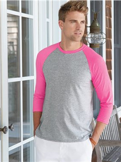 Hanes - X-Temp™ Three-Quarter Sleeve Baseball T-Shirt - 42BA