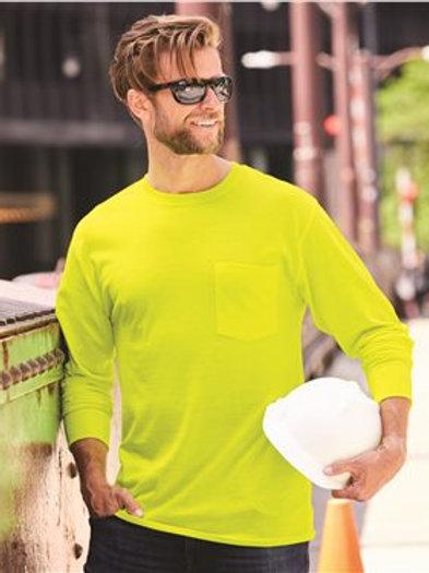 Hanes - Workwear Long Sleeve Pocket T-Shirt - W120