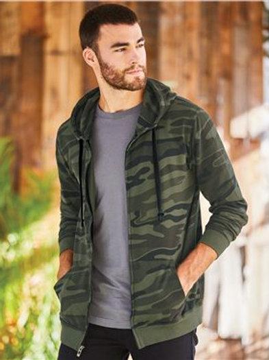 Burnside - Camo Hooded Full-Zip Sweatshirt - 8615