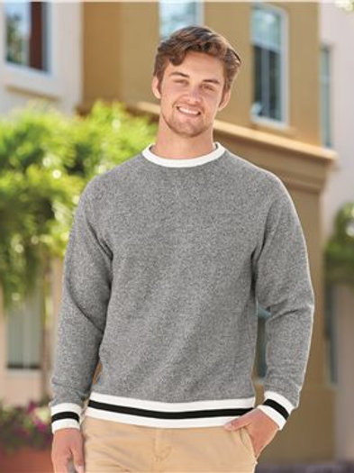 J. America - Peppered Fleece Crewneck Sweatshirt - 8702