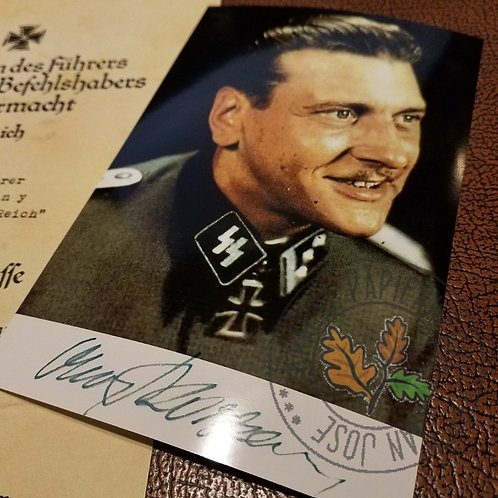 Otto Skorzeny - reproduction of signed photo (autographed picture) - color