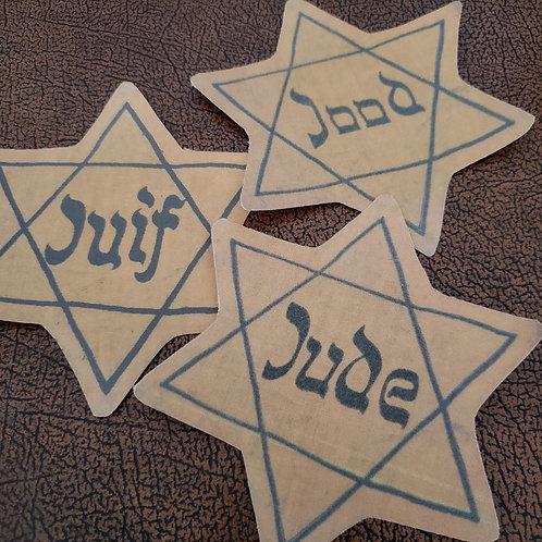 Jewish Identification Star (Judenstern), cotton