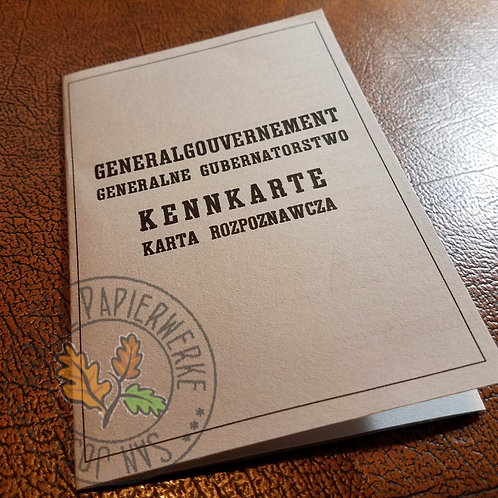 Polish Kennkarte (General Government) - customizable reproduction