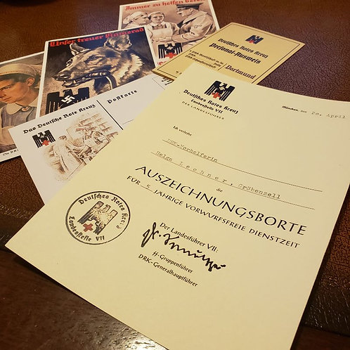 DRK Auszeichnungsborte - DRK Long Service Band/Award - certificate/document/citation