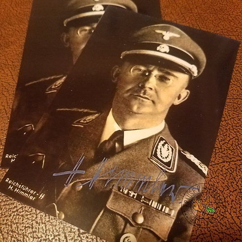 Heinrich Himmler - chief of German SS (Nazi Germany), responsible for holocaust - autographed color photo (signed picture)