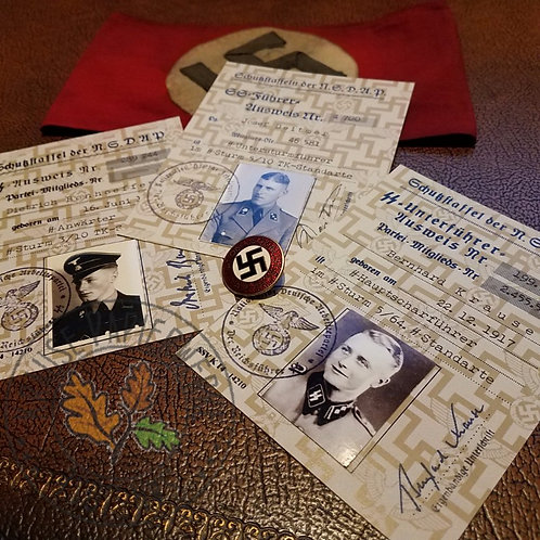 SS Ausweis (ID document) customizable reproduction for enlisted man, NCO and officer