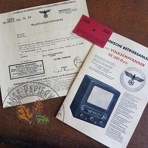Volksempfänger VE 301-Dyn - Documentation Set