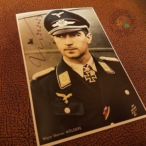 Werner Mölders - German Luftwaffe fighter ace from World War 2 - signed picture (autographed photo) - reproduction