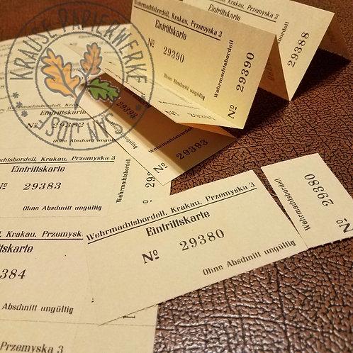 Wehrmacht Brothel Tickets (Wehrmachtsbordell Eintrittskarte) reproduction