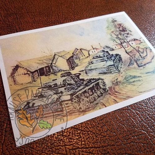 Panzers - Postcard