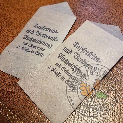 Ostvolk Medal (Ostvolkmedaille) presentation packet / envelope