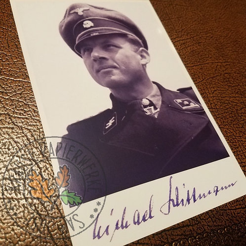 Michael Wittman - signed photo (autographed picture) - ace tank commander of the German Waffen-SS.