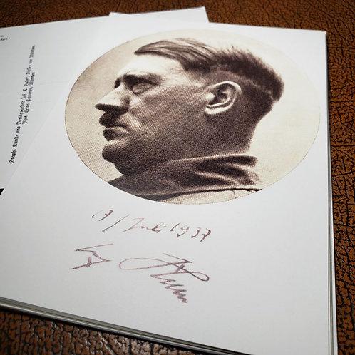 Adolf Hitler - signed postcard of the Führer.