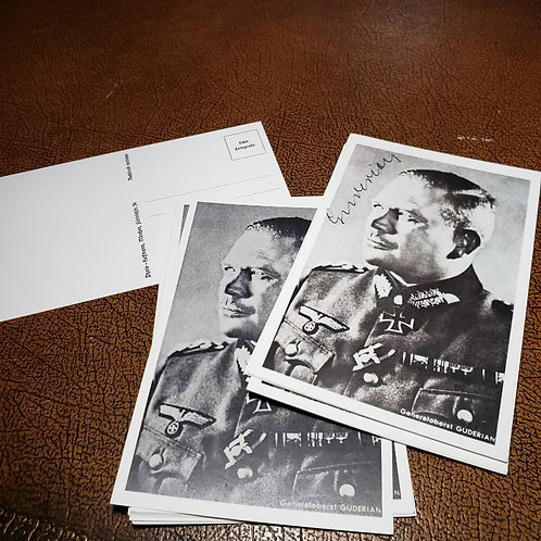 Postcard (optionally autographed) of Heinz Guderian - the father of German Blitzkrieg and eventually commander of OKH.