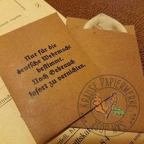 Wehrmacht condom packet (Kondom, Gummischutz) - reproduction