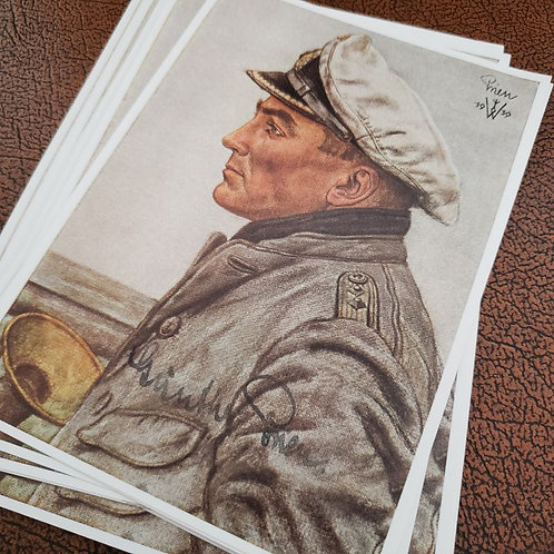 Günther Prien - the Bull of Scapa Flow - German U-Boot captain ace - signed postcard by Willrich