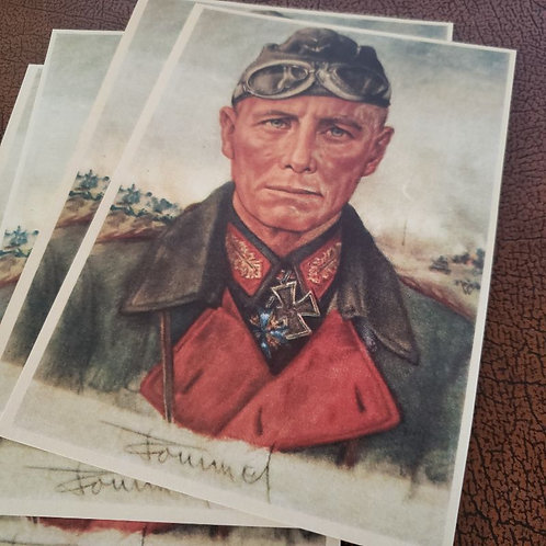 Erwin Rommel - German General, nicknamed Desert Fox - postcard by Wolfgang Willrich.