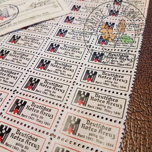 German Red Cross (DRK) Membership Stamps (strip of 5)