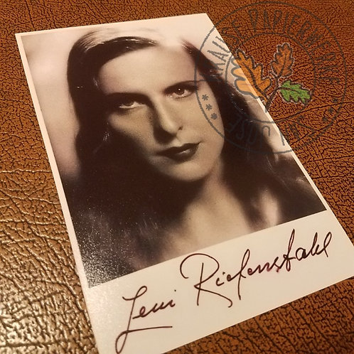 """Leni Riefenstahl - signed photograph. Director of """"Triumph des Willens"""" and """"Olympia"""""""