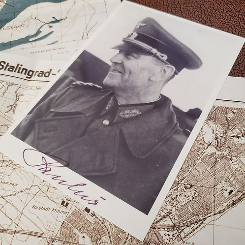 Friedrich Paulus - signed photo