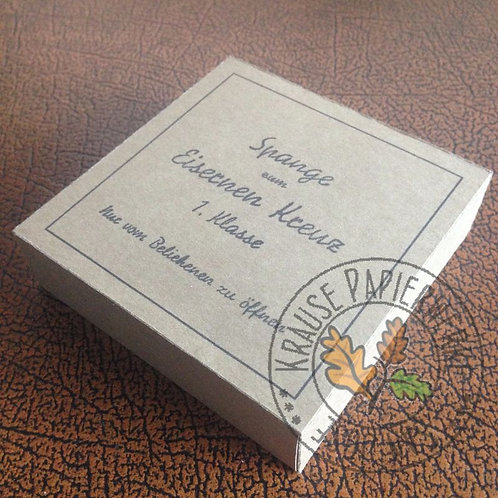 Carton for Clasp for Iron Cross 1st class (Wiederholungsspange zum EK1) - B. H. Mayer