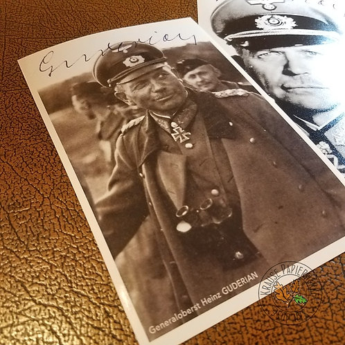 General Heinz Guderian - reproduction of signed photograph (autographed picture). From Krause Papierwerke.