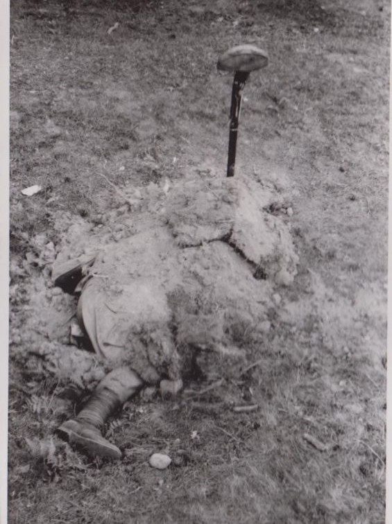Burial of a soldier