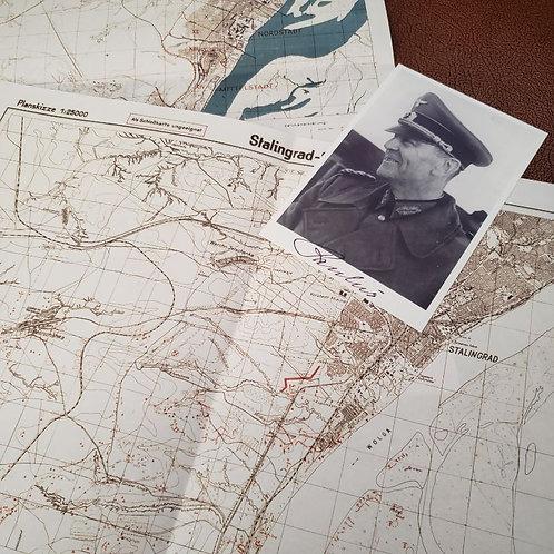 Set of 2 German Maps of Stalingrad