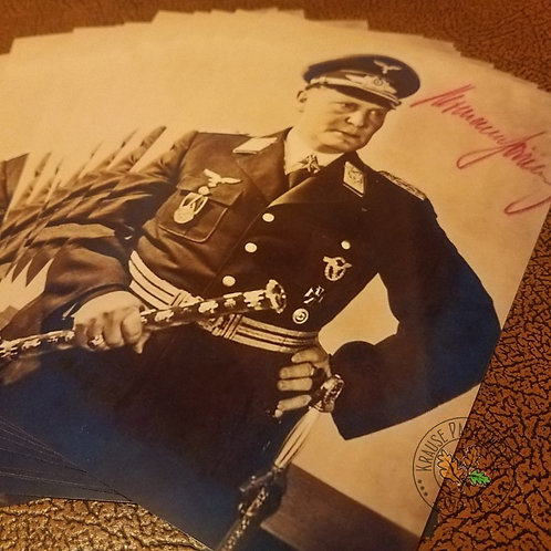 Herman Göring - chief of German Luftwaffe - reproduction of signed photograph (autographed photo)